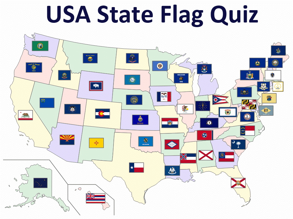 USA State Flag Quiz Game