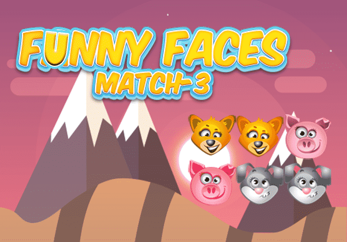 Funny Faces Match 3 Game