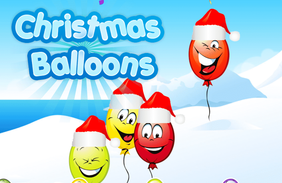 Christmas Balloons Tapping Game
