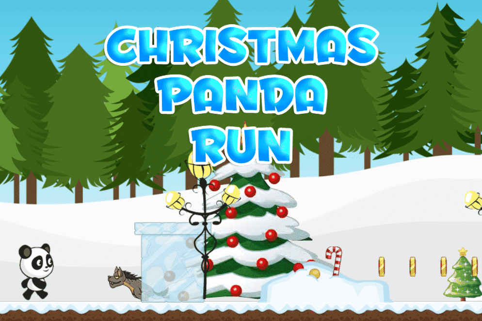 Christmas Panda Run Game
