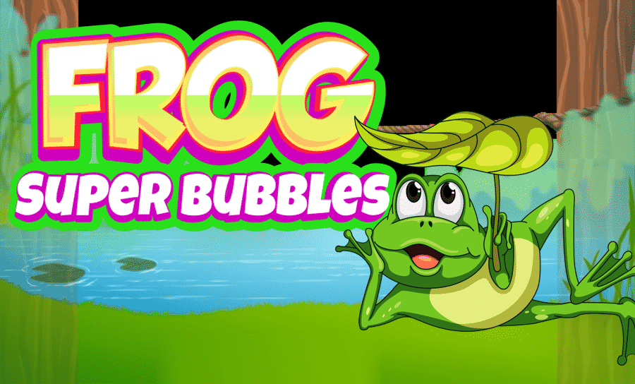 Frog Super Bubbles Matching Game