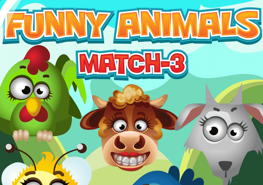 Funny Animals Match 3 Game