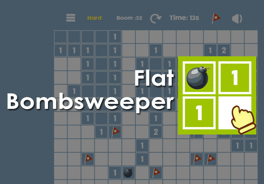 Flat Bombsweeper Game