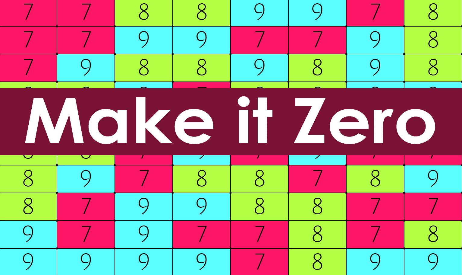Make it Zero Tapping Game