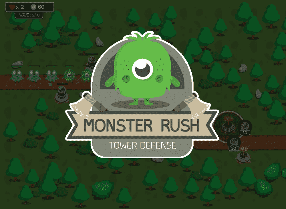 Monster Rush Tower Defense Game